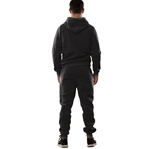 Toocool - Tuta UOMO felpa pantaloni fitness palestra cappuccio tasche sport nuova S6603 Grigio scuro