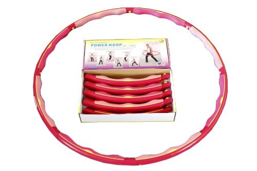 Sports Hoop Weight Loss 174; Series: Power Hoop® 4B - 3.6lb (1.6kg) Large, Weighted Fitness Exercise Hula Hoop (Workout DVD Included)
