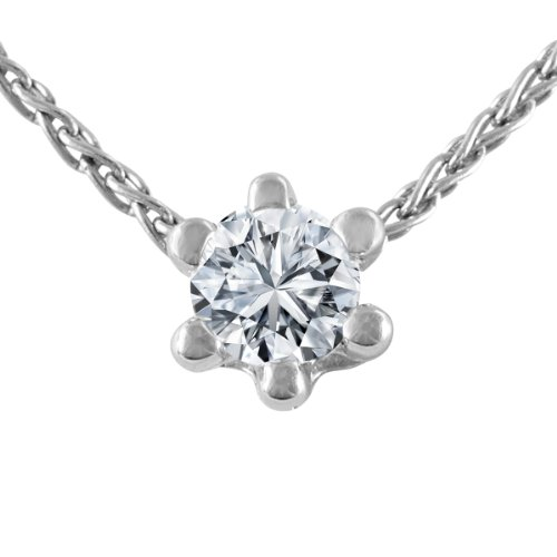 Diamond Line Damen - Halskette 585er Gold 1 Diamant ca. 0,10 ct, weißgold