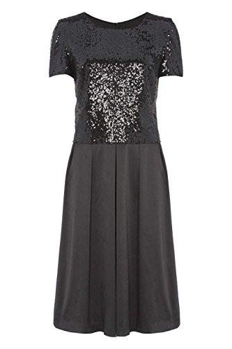 Roman Originals - Robe Patineuse Sequins Paillettes Soirée - Noir Noir