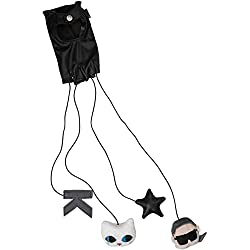 Karl Lagerfeld guante juego GLOVE CAT GAME, Color Negro, Tamaño: One Size