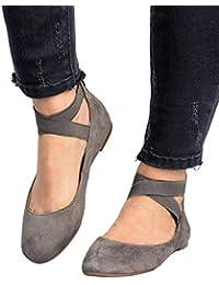 ab537f4d97 Amazon.es: ante - Gris / Bailarinas / Zapatos para mujer: Zapatos y ...