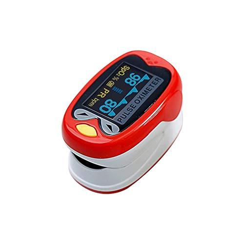 Jannyshop Digitaler Pulsoximeter für Neugeborene Kinder, batteriebetrieben, für pädiatrische Kinder, SpO2, Blutsauerstoffsättigung rot