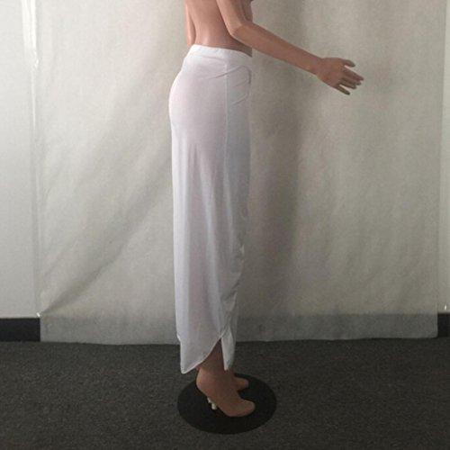 Italily - Super Soft Vendite Calde Donne Estive Casuale Pantaloni Sciolti Gamba Larga Culottes Allungare Pantaloni Capi di Abbigliamento M-XXXXXL Bianca