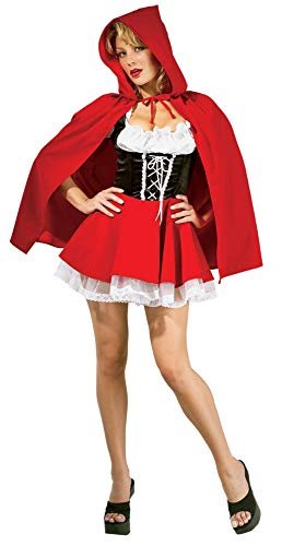 Kostüm Riding Hood Cape Red - Rubie's 888626 - Red Riding Hood Kostüm, Größe S
