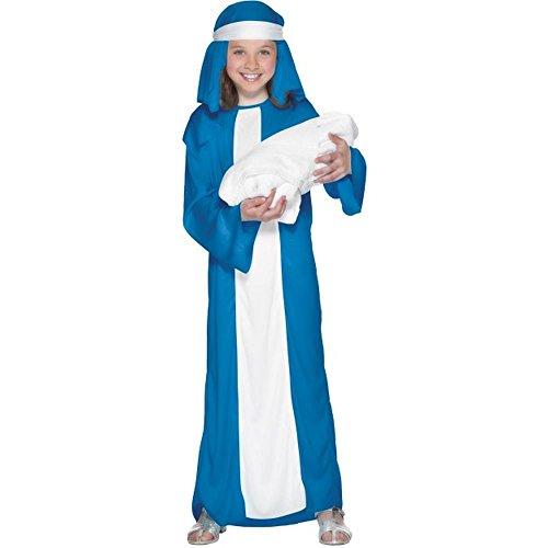 (Kinder Kostüm Krippenspiel Maria Weihnachten Karneval 7 bis 9 J.)