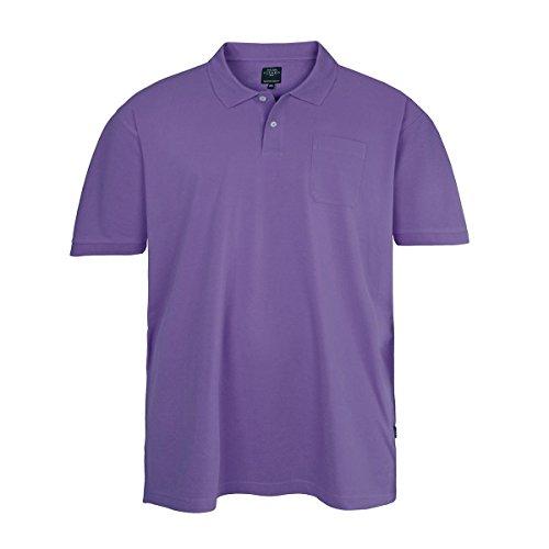 Kitaro Basic Piqué Poloshirt lila Übergröße Violett