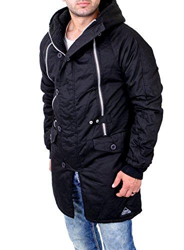 VSCT Clubwear Herren Jacken / Mantel Double Zipper Huge Luxury Schwarz