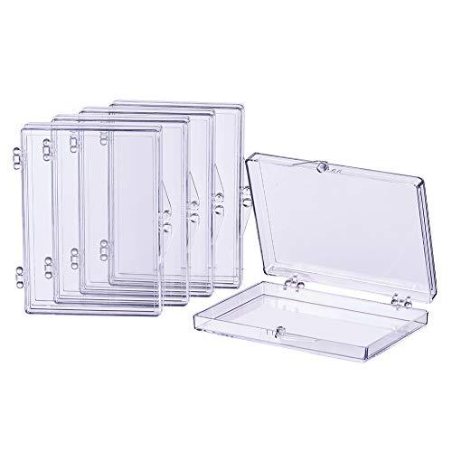 BENECREAT 8 Stück Rectangle Hohe Transparenz-Plastikkorn-Vorratsbehälter-Kasten-Kasten mit Flip-Up Deckel für Beauty Supplies, Tiny Perlenschnur, Schmuck und andere kleine Gegenstände