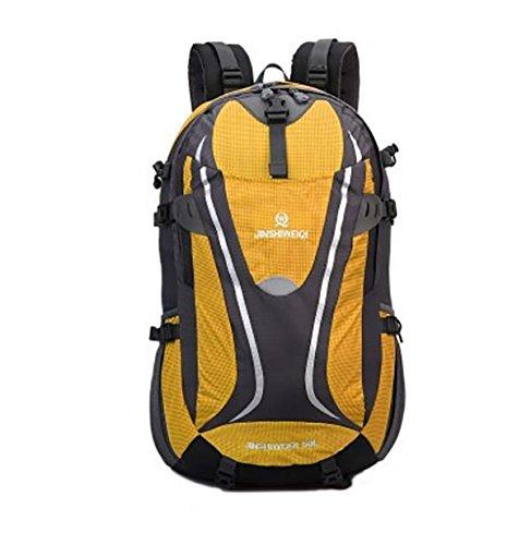 LINGE-Grande capacità zaini zaino borsa da viaggio impermeabile outdoor Trekker per uomini e donne 50L , blue Yellow