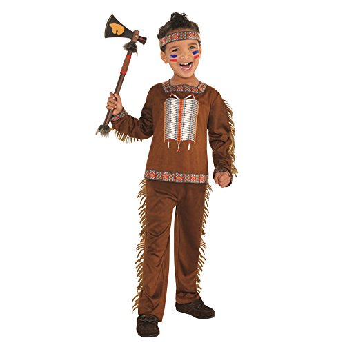 Kleiner Indianer Kinderkostüm Jungen Amscan (Indianer Cowboy Kostüm)