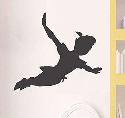 Autocollant mural Peter pan ombre mur décalque autocollant vinyle amovible fenêtre mur enfants enfants art