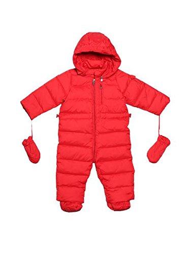 Oceankids Tuta monopezzo / tuta da neve / da passeggino con cappuccio, rosso da bambino e bambina 3-6 Mesi