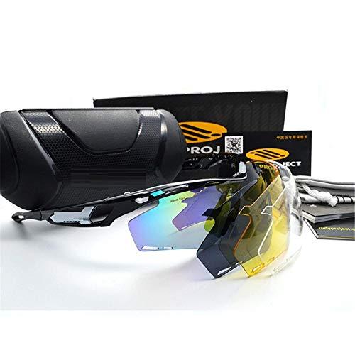 ANSKT Polarized Sports Sonnenbrille mit 3 austauschbaren Gläsern UV400-Schutz-Sportsonnenbrille, Material: tr1