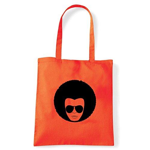 Art T-shirt, Borsa Shoulder faccia-anni-70 Arancio