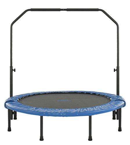Upper Bounce Mini Trampolino da 120 cm Pieghevole per Interno / Esterno con Corrimano Regolabile