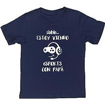 ESTOY VIENDO BALONCESTO CON MAMÁ camiseta manga corta niños ...