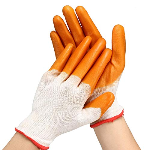 PVC Latex Rubber Coated Palms Working Labor Gloves ()