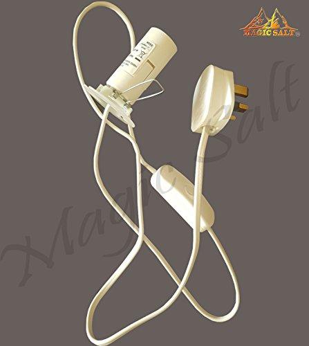 Himalayan Salt Lamp Replacement Electric fitting – 3 Pin plug plus Bulb