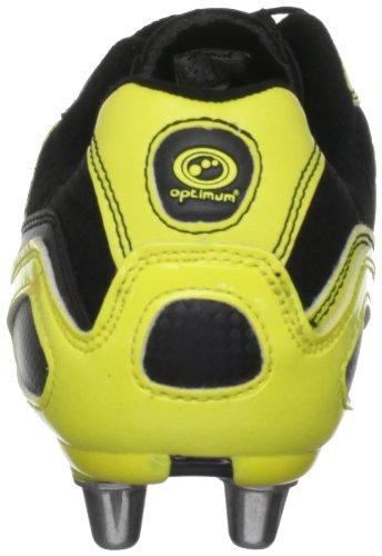 Optimum Velocity Maillot de Rugby de coffre noir noir - Noir/jaune