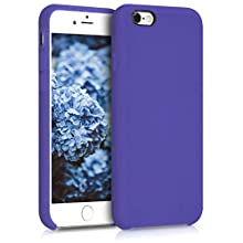 kwmobile TPU Silicone Case Compatible with Apple iPhone 6 / 6S - Soft Flexible Rubber Protective Cover - Blue Iris