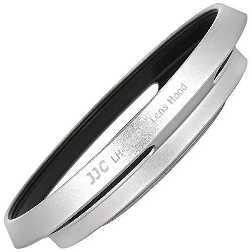 JJC 37mm Universal Aluminium Sonnenblende Streulichtblende Gegenlichtblende GeLi in silber geeignet fuer Olympus M.Zuiko DIGITAL, Panasonic Lumix G Vario - LH-37EPII
