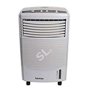 PORTABLE WATER EVAPORATIVE 3 SPEED OSCILLATING FAN AIR COOLER COLD WITH TIMER 60w 7 LITER TANK