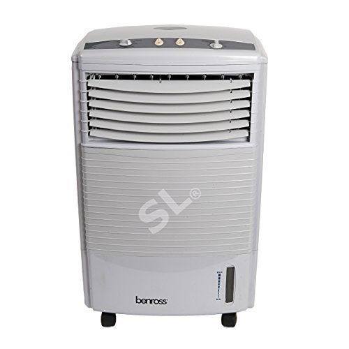 Price comparison product image PORTABLE WATER EVAPORATIVE 3 SPEED OSCILLATING FAN AIR COOLER COLD WITH TIMER 60w 7 LITER TANK