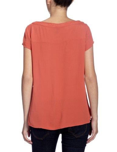 VERO MODA Damen T-Shirt, 10084923 DD LORRY S/S TOP - SEA Rot (HOT SAUCE)
