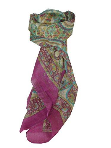 Sciarpa Prime Qualità di 100% Seta Classic Modello Rachol Pink Donna Stola Scialle Scarf da Pashmina & Silk
