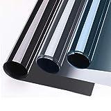 75x300cm verspiegelte Folie Sonnenschutz selbstklebend für Fenster, Fensterfolie, Sichtschutz und Hitzeschutz Sichtschutzfolie, Spiegelfolie Silber-Blau,