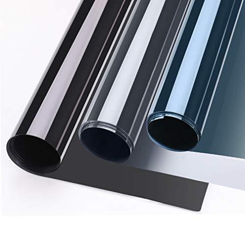 GOGO GO Vinilo Ventana Espejo 75X300CM Autoadhesivo Película Adhesiva Anti 97% UV Vinilo Película Protector Solar para Ventana Privacidad de Una Dirección Control Solar para Oficina Salón Dormitorio