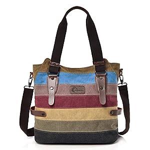 41q0zun%2B40L. SS300  - CHEREEKI Bolsos de Mujer, Bolsos para Buen tamaño y Varios Bolsillos, Bandolera o con Las Asas (Multi-Color)