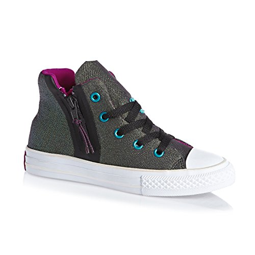 Converse Unisex-Kinder All Star Sport Zip Hohe Sneaker Schwarz