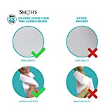 (10 Pack) Smith's Magic Cleaning Eraser Sponge - 2X Longer Lasting Melamine Sponges - Multi Surface Power Scrubber Foam Pads - Bathtub, Floor, Baseboard, Bathroom, Wall Cleaner