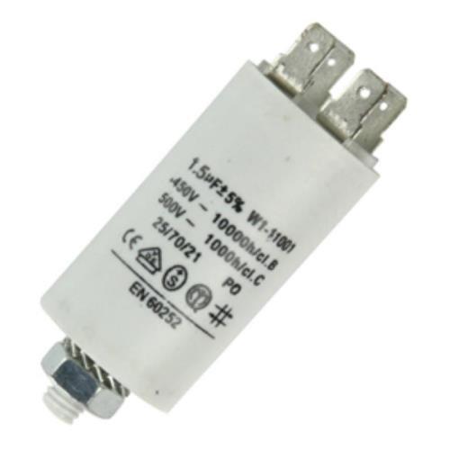 Fixapart 11001 Anlaufkondensator Betriebskondensator 1,5uF 1,5µF mit STECKER (Motorkondensator) -