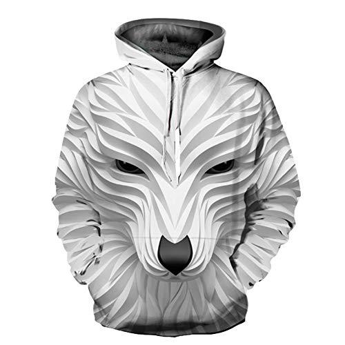 Unisex Winter 3D-Mode-Persönlichkeit Pullover Hoodie, lässiges leichtes Sweatshirt und Tasche S-XXL,895,S