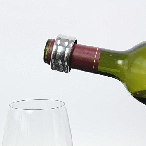 Bestlle Stainless Steel Indentation Wine Ring