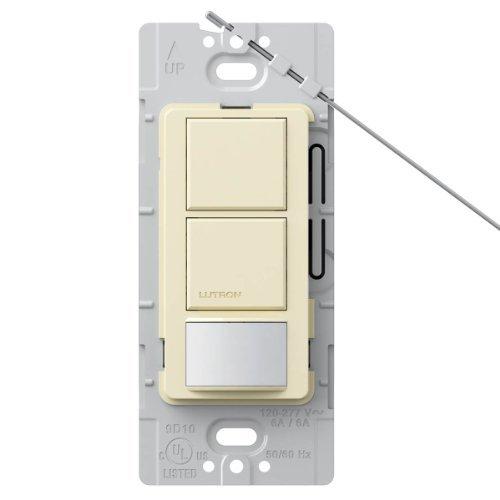 Lutron Lutron MS-OPS6-DDV-AL Maestro 6 Amp Single Pole Dual Circuit Occupancy Sensing Switch, Almond by Lutron Occupancy Sensing Switch