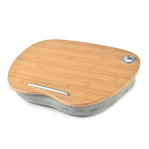Klapptisch Chunlan Laptop Tisch aus Holz mit Kissen Multifunktions-Portable Computer Schreibtisch auf dem Knie (Farbe : Gray 40 * 30cm) (Portable Laptop Kissen Schreibtisch)