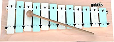 11053 12 platos de sonido metalófono Goldon - azul/blanco
