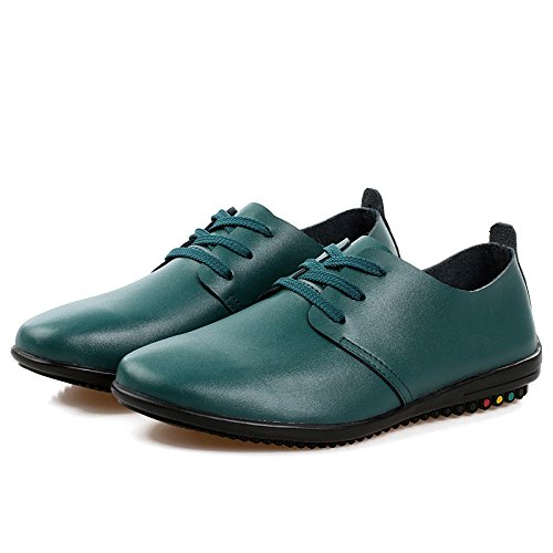 Men's High Quality Soft Leather Luxury Oxfords Shoes 789 green