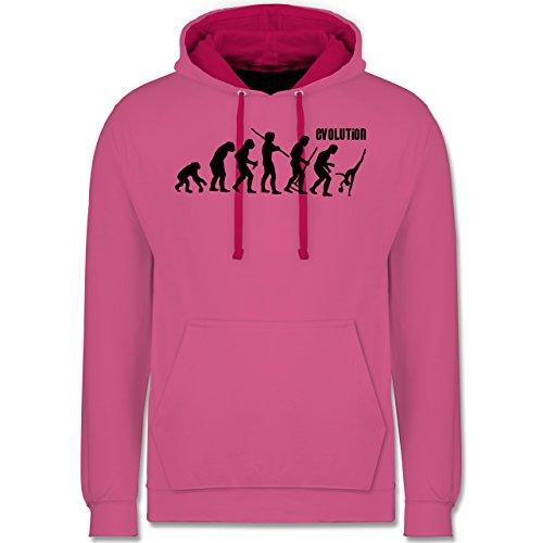 Evolution - Rhythmische Sportgymnastik Evolution - Kontrast Hoodie Rosa/Fuchsia