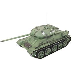 XciteRC T-34/85 - RC- Vehículos militares terrestres (Níquel-Hidruro metálico (NiMH), Tanque de juguete)