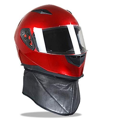 KT Casco da Motociclista Casco da Bici Occhiali da Moto Equipaggiamento da Motociclista for Uomini Occhiali di Sicurezza Luci Bici Anteriore E Posteriore Protezione Auricolare Rosso Casco da Trek
