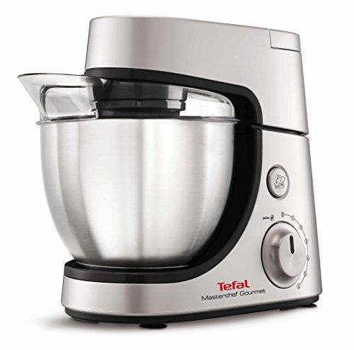 Tefal Masterchef Gourmet 900W 4.6L Gris, Plata - Robot de cocina (4,6 L, Gris, Plata, Giratorio, 1,5 L, Acero inoxidable, ABS)