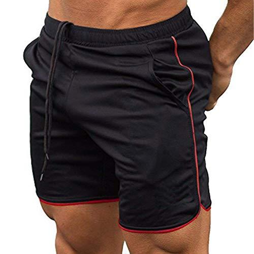 Wixens Herren Shorts Fitness Sporthose Gym Elastisch Bequem Atmungsaktiv Runnings Funktionsshorts