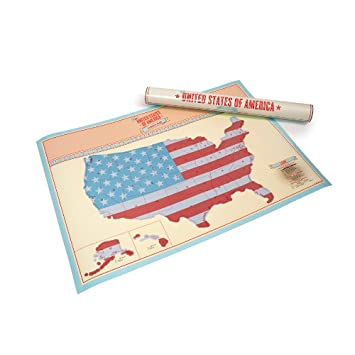 Scratch Map USA Edition  Personalised World Map Poster Travel