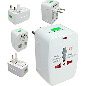 higadgetTM Universal World Wide Travel Charger Adapter Plug Suitable for All Your Electronic Devices and Gadgets White
