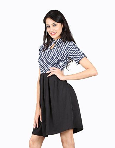 ABODOS-FASHION-Black-Printed-Crepe-Dress